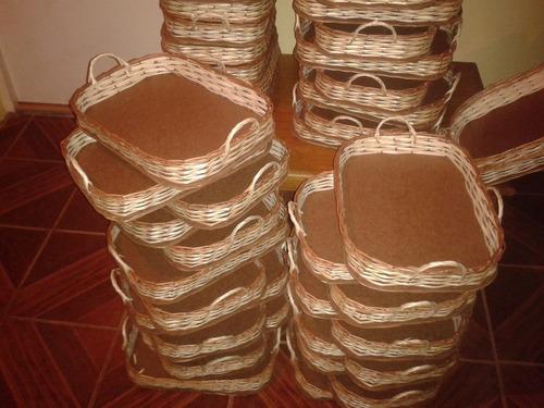bandeja de mimbre para desayunos u otros de 22x30 (oferta)