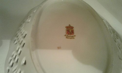 bandeja de porcelana calada bavaria