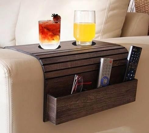 bandeja de sofá e porta controle revist caixote, esteira mdf