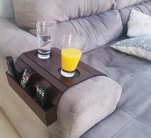 bandeja de sofá porta controle revista caixote esteira mdf