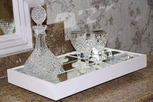 bandeja decorativa espelhada