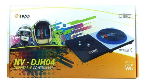 bandeja dj neo djh04 para ps2 ps3 wii wireless 2.4hz