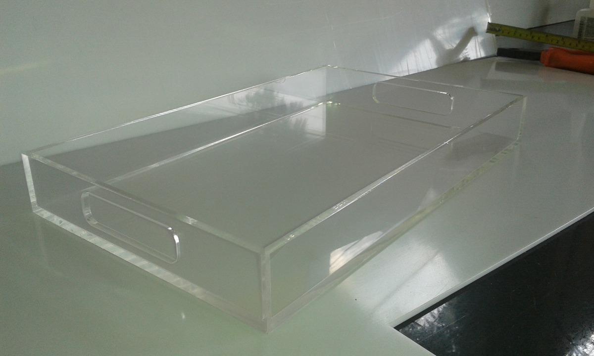 Artesanato Em Geral Mr ~ Bandeja Em Acrilico Cristal aparador sala decoraçao cozinha R$ 139,99 em Mercado Livre