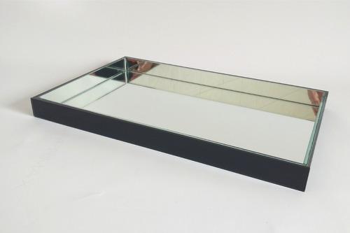 bandeja espelhada aparador / bar / taças - madri ônix