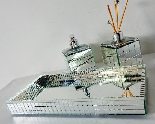 bandeja espelhada lavabo banheiro-escritório-mesa-decorativa