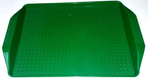 bandeja fast food resistentes autoservicio 44 x 30 verde