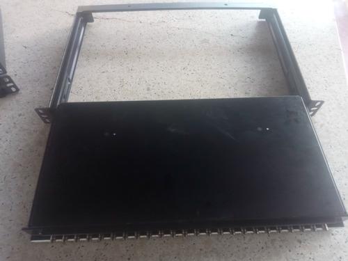 bandeja fibra optica sc apc pacth bay de rack 24 contactos