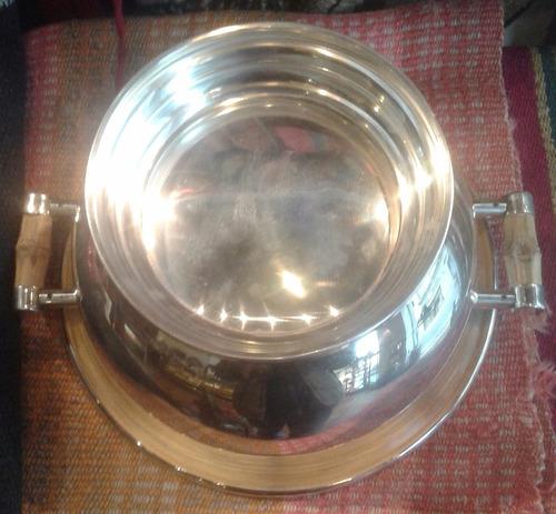 bandeja frapera centro de mesa fuente platada