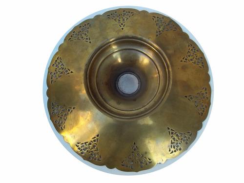 bandeja fuente centro de mesa de metal con pie
