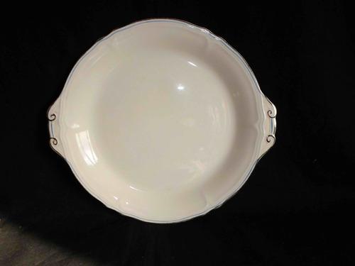 bandeja fuente circular en loza inglesa grindley creampetal