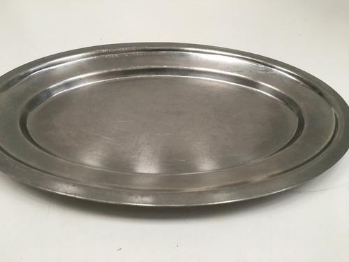 bandeja / fuente oval de acero inoxidable pesado (51nb42)