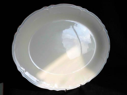 bandeja fuente ovalada en loza inglesa grindley creampetal