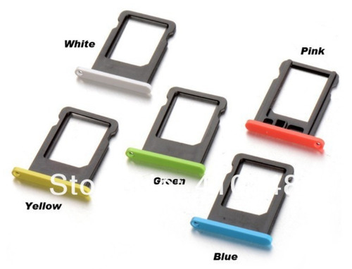bandeja gaveta tray nano sim chip iphone 5c verde amarelo