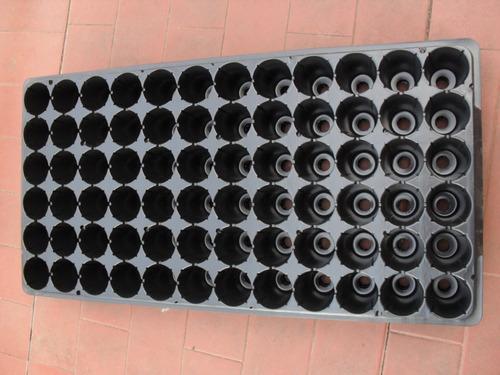bandeja germinadora plug siembra x 1 (72 o 50 o 128 celdas)