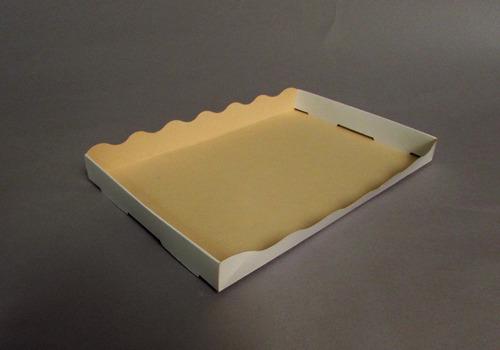 bandeja grande 27x18x2,8 cm (x50 u) bauletto - 100 bauletto