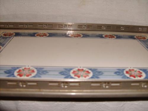 bandeja grande faiança-decô- 50 cm - perfeita
