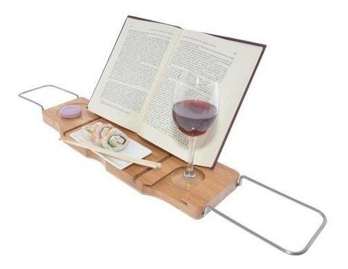 bandeja mesa para tina baño de bambu regalos romanticos