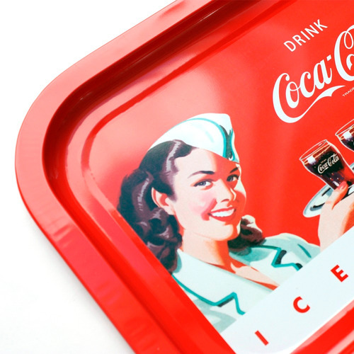 bandeja metálica coca cola cocina morph