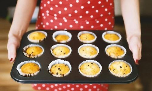 bandeja o molde para cupcake reposteria teflon x12 cavidades
