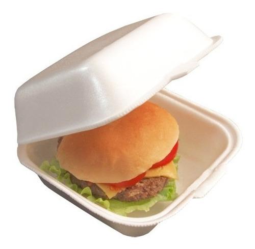 bandeja p/ hambúrguer isopor hamburgueira lanche ch03 200un