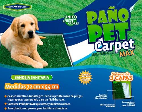 bandeja pañopet carpet max 70x55 perros raza media o grande