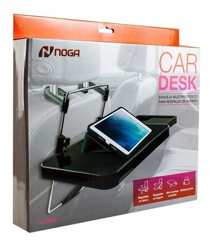 bandeja para auto soporte tablet noga car desk 1 apoya vasos