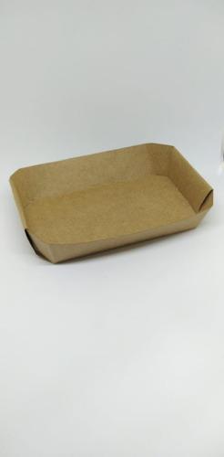 bandeja para lanches, papel kraft / branco, food truck 100un