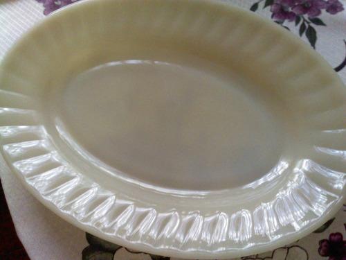 bandeja para salada anos 80 - 40cm oval - nova