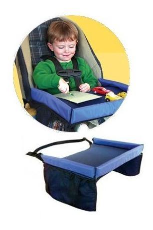 bandeja para silla de seguridad niño acolchada