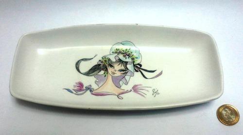 bandeja pequeña porcelana italiana decorada chica