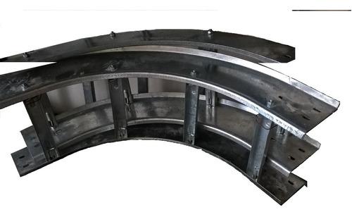 bandeja porta cable curva vertical escalera 20x10 electrico