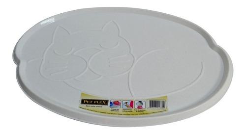 bandeja porta comedouro p/ gatos lavável e prática