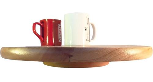 bandeja prato giratório laminado mesa jantar 36cm decor novo