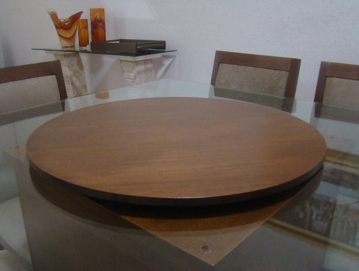 Bandeja prato girat rio laminado mesa jantar 80cm decor - Mesa de centro giratoria ...