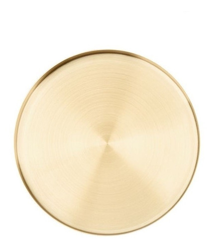 bandeja redonda de servir metal gold dorada deco