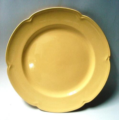 bandeja redonda porcelana inglesa amarilla johnson bros