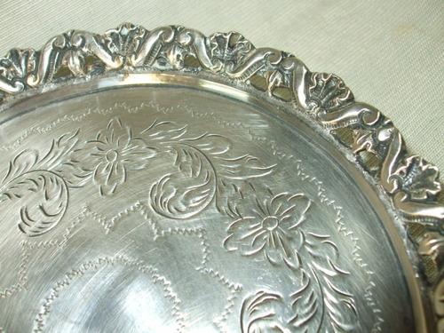 bandeja salva em prata de lei 833 - brasileira