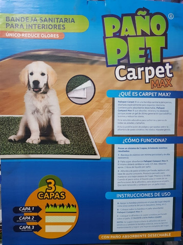 bandeja sanitaria perros paño pet carpet large 70x55