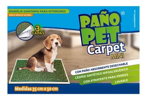bandeja sanitaria perros paño pet carpet mini 35x50 cm