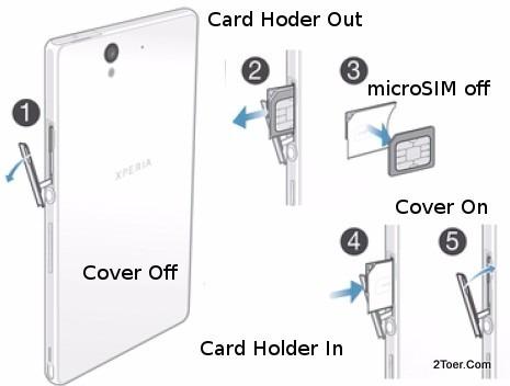 bandeja sim porta chip original sony xperia z1 z2 z3 compact