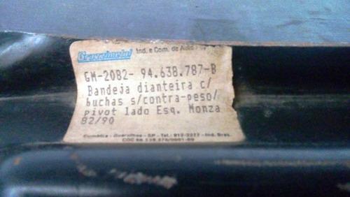 bandeja suspensão dianteira monza 82/90 esq s/contra-peso