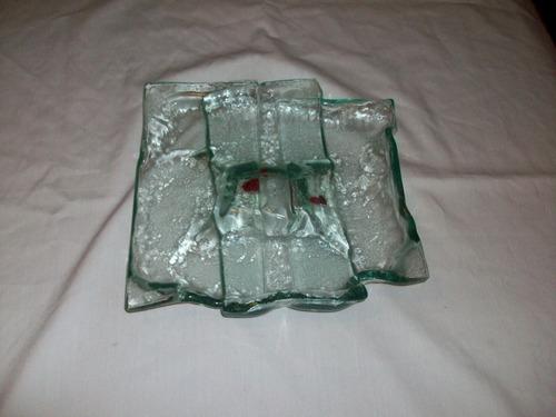 bandeja vidrio arte murano decorar centro mesa remate oferta