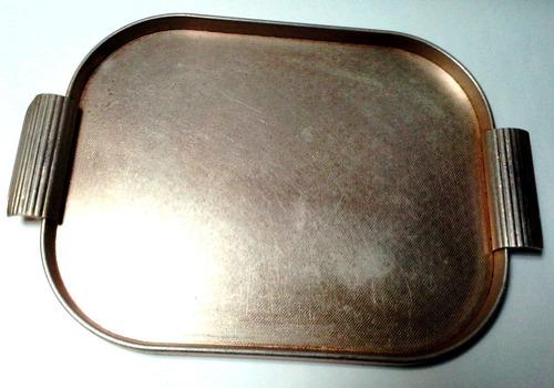 bandeja vintage aluminio anodizado dorado años 50