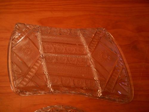 bandejas de copetin vidrio