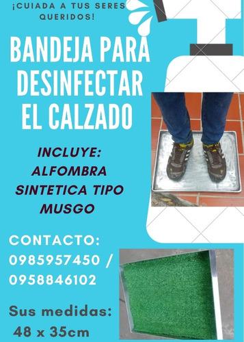 bandejas de desinfeccion para calzado