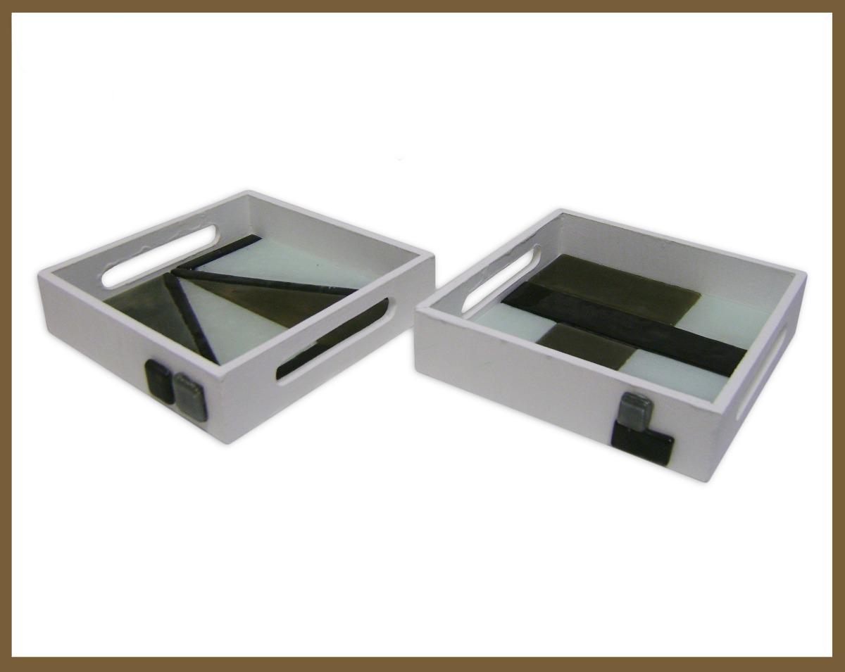 Bandejas de madera y vitrofusi n 250 00 en mercado libre for Bandejas de madera