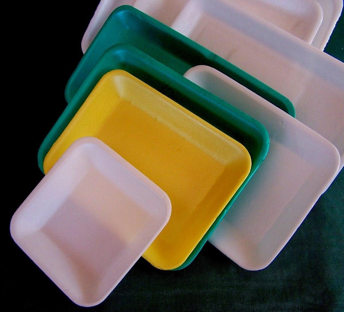 Bandejas descartables espuma 15x15 x 100 75 00 en - Manualidades corcho blanco ...