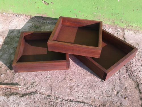 bandejas en madera ideales para desayunos .por encargue