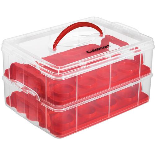 bandejas para cupcake cuisinart hasta 24 unidades roja