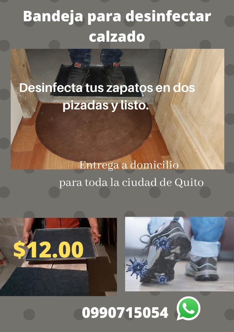 bandejas para desinfectar calzados